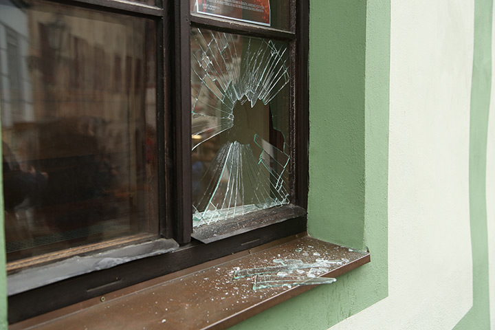 A2B Glass are able to board up broken windows while they are being repaired in Kilburn.